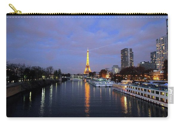 Eiffel Tower Over The Seine Carry-all Pouch