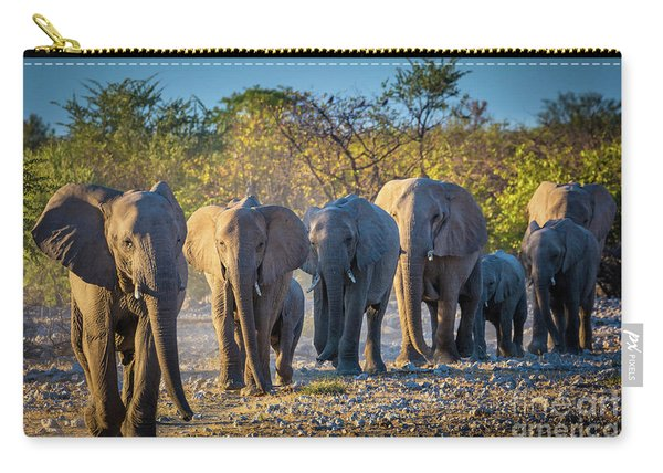 Eight Elephants Carry-all Pouch