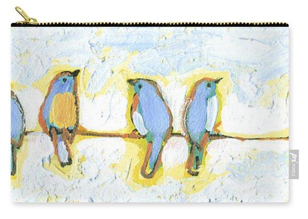 Eight Little Bluebirds Carry-all Pouch