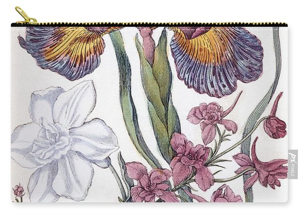 Eighteenth Century Engraving Of Flowers Carry-all Pouch