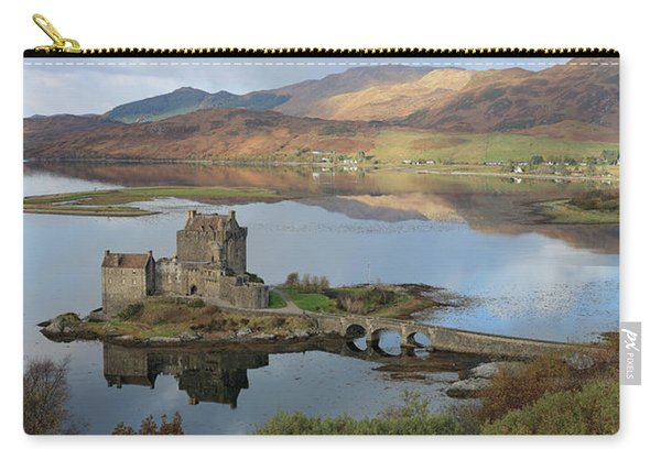 Eilean Donan Castle In Autumn - Panorama Carry-all Pouch
