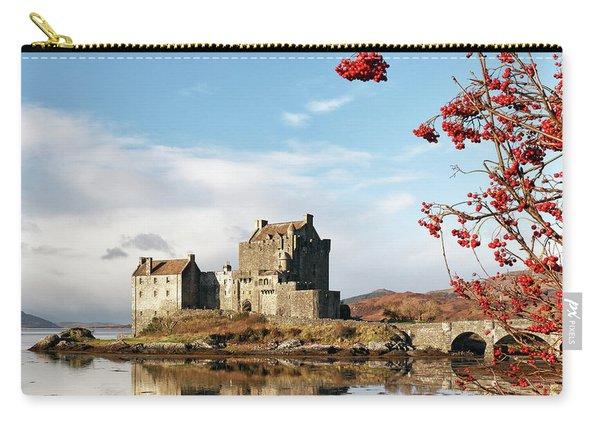 Eilean Donan - Loch Duich Reflection - Skye Carry-all Pouch