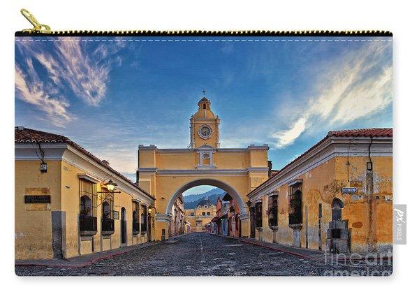 Carry-all Pouch featuring the photograph El Arco De Santa Catarina, Antigua, Guatemala by Sam Antonio Photography