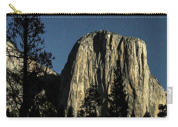 El Capitan By Starlight, Yosemite Valley, Yosemite Np, Ca Carry-all Pouch