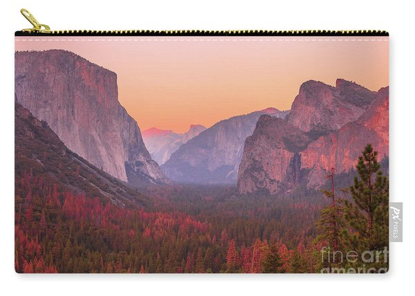 Carry-all Pouch featuring the photograph El Capitan Golden Hour by Benny Marty