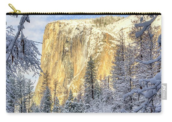 El Capitan Winter Majesty Yosemite National Park Carry-all Pouch