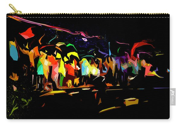 Carry-all Pouch featuring the digital art Elation by Gina Harrison