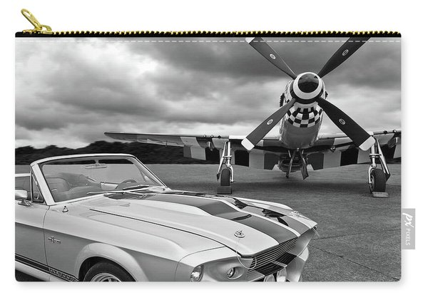 Eleanor Mustang With P51 Black And White Carry-all Pouch