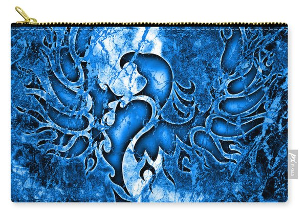 Electric Blue Phoenix Carry-all Pouch