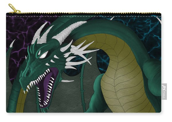 Carry-all Pouch featuring the painting Electric Portal Dragon by Raphael Lopez