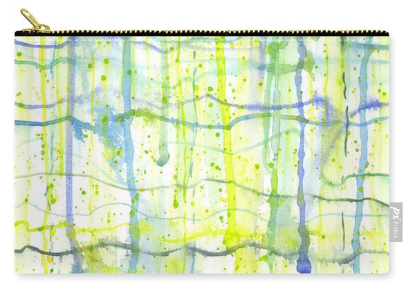 Electric Rain Watercolor Carry-all Pouch