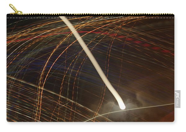 Carry-all Pouch featuring the pyrography Electric Universe by Michael Lucarelli