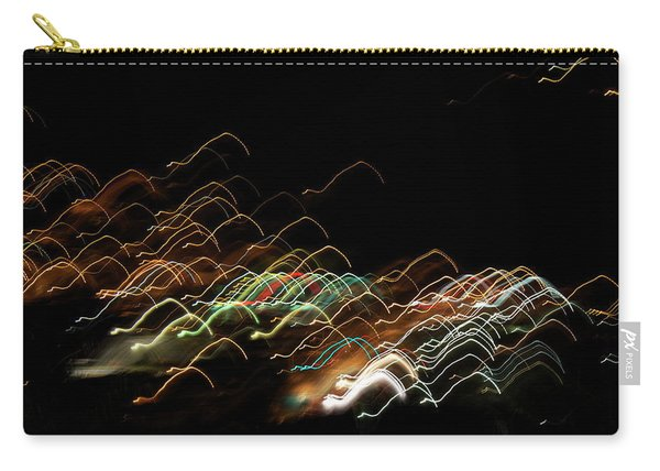 Carry-all Pouch featuring the pyrography Electronic Landscape by Michael Lucarelli
