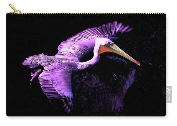 Elegant Flight In Violet Carry-all Pouch