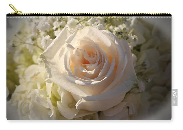 Elegant White Roses Carry-all Pouch