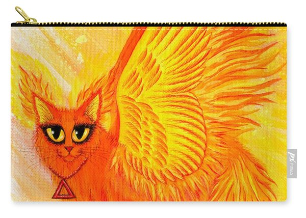 Elemental Fire Fairy Cat Carry-all Pouch