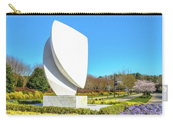 Elements Sculpture At Christopher Newport University In Springtime Carry-all Pouch