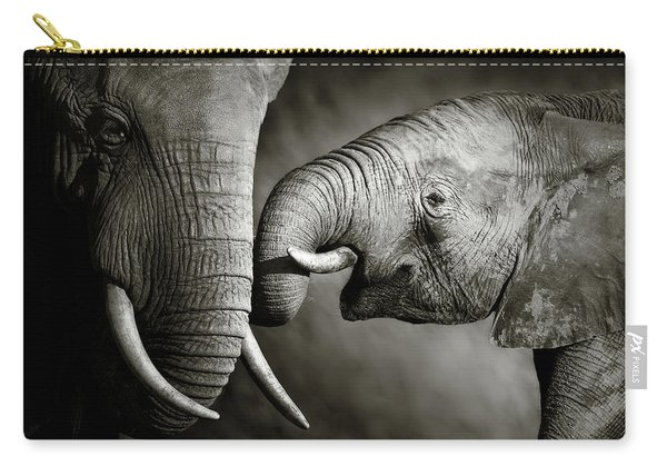 Elephant Affection Carry-all Pouch