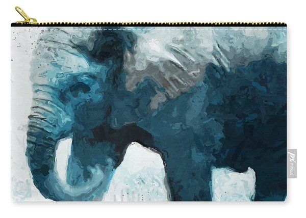 Elephant- Art By Linda Woods Carry-all Pouch