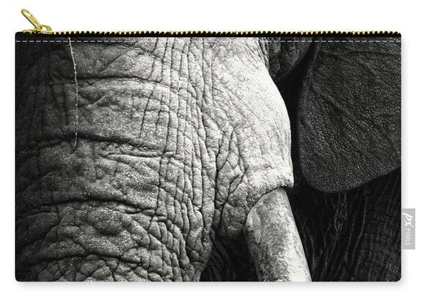 Elephant Close-up Portrait Carry-all Pouch