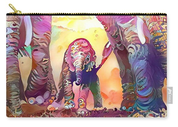 Elephant Delight 1 Carry-all Pouch