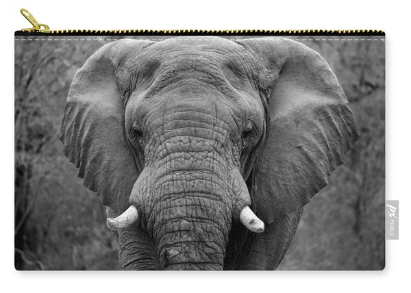 Elephant Eyes - Black And White Carry-all Pouch