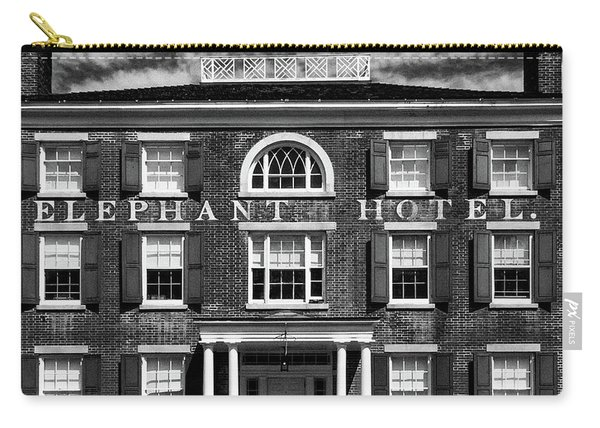 Carry-all Pouch featuring the photograph Elephant Hotel by Eric Lake