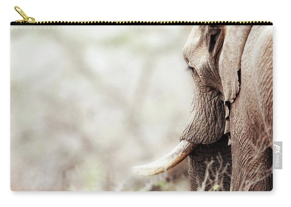 Elephant In Dreamy Woods Carry-all Pouch