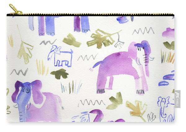 Elephant Jungle Carry-all Pouch
