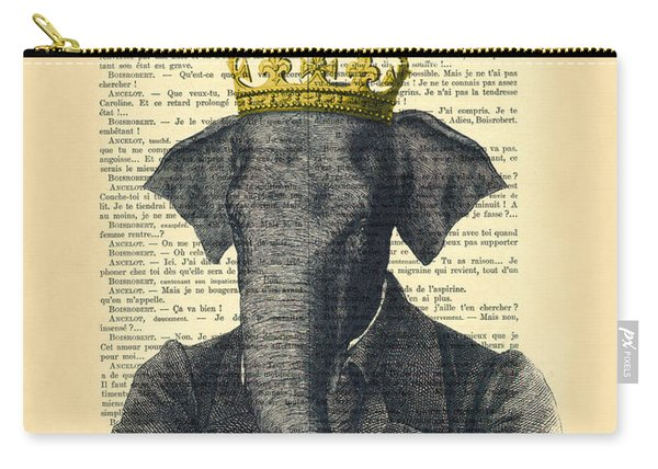 Elephant With Crown Nursery Decor Carry-all Pouch