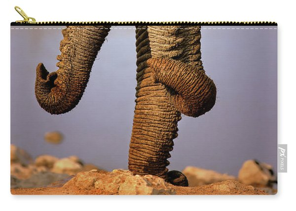 Elephant Trunks Interacting Close-up Carry-all Pouch