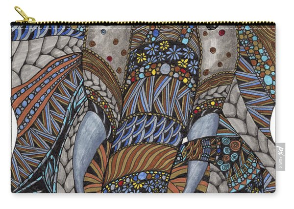 Carry-all Pouch featuring the drawing Elle by Barbara McConoughey