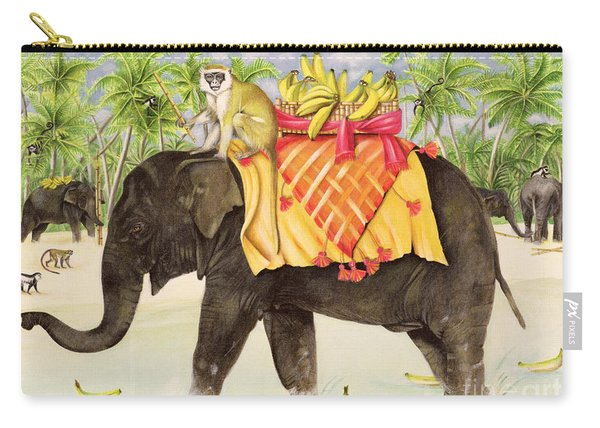 Elephants With Bananas Carry-all Pouch