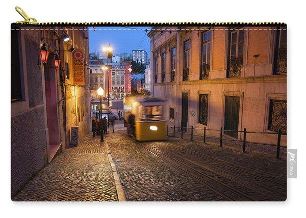 Elevador Da Gloria Funicular At Night In Lisbon Carry-all Pouch