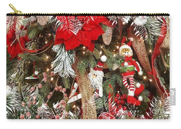 Elf In A Tree Carry-all Pouch