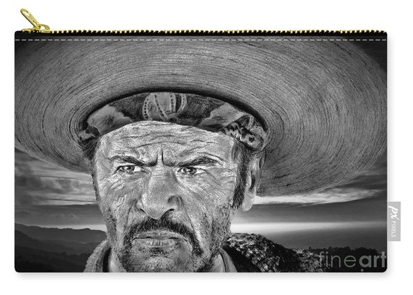Eli Wallach As Tuco In The Good The Bad And The Ugly At Sunset Black And White Version Carry-all Pouch