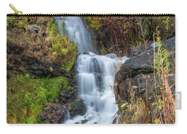Elk Creek Waterfall Waterscape Art By Kaylyn Franks Carry-all Pouch