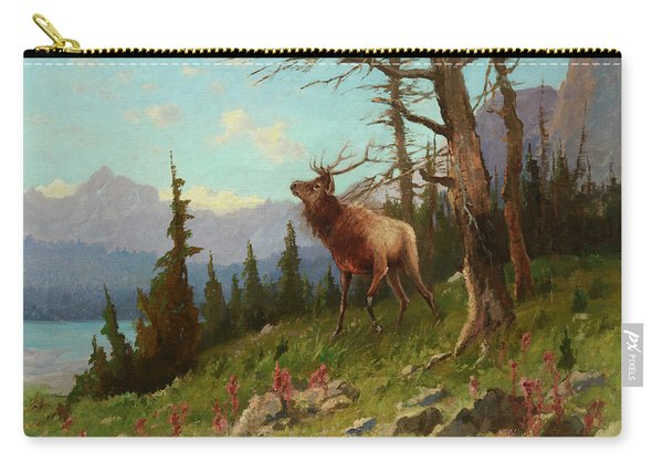 Elk In The Mountains Carry-all Pouch