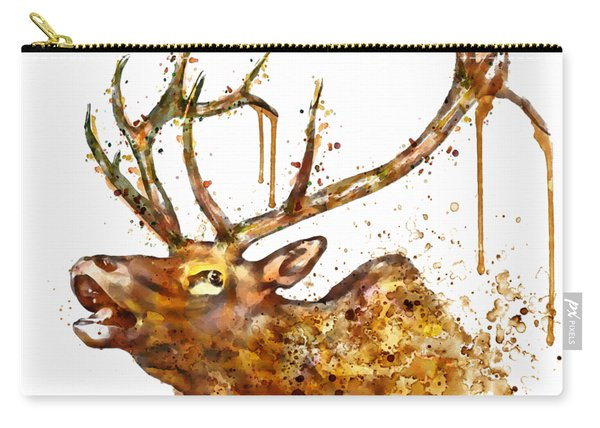 Elk In Watercolor Carry-all Pouch