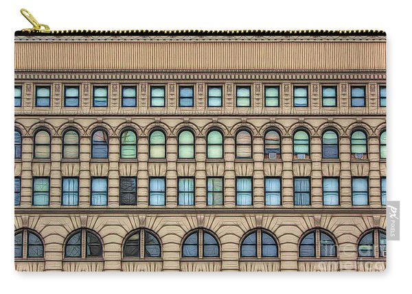 Ellicott Square Building Buffalo Ny Ink Sketch Effect Carry-all Pouch