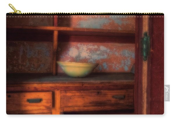 Carry-all Pouch featuring the photograph Ellis Island Cabinet by Tom Singleton