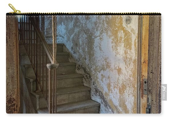 Carry-all Pouch featuring the photograph Ellis Island Stairs by Tom Singleton