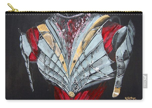 Carry-all Pouch featuring the painting Elven Armor by Richard Le Page
