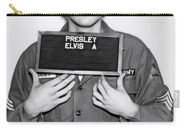 Elvis Army Mugshot 1960 Carry-all Pouch