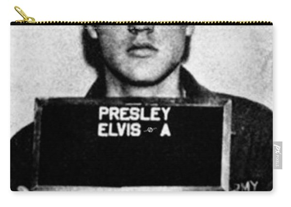 Elvis Presley Mug Shot Vertical 1 Carry-all Pouch
