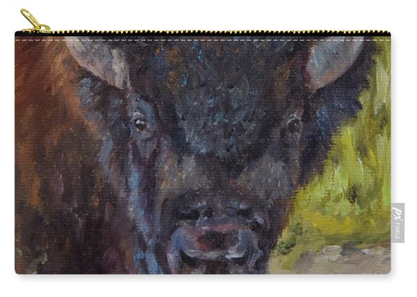 Elvis The Bison Carry-all Pouch