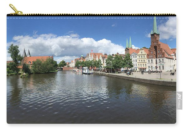 Embankment Of Trave In Luebeck Carry-all Pouch