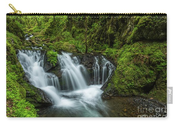Emeral Falls Waterscape Art By Kaylyn Franks Carry-all Pouch