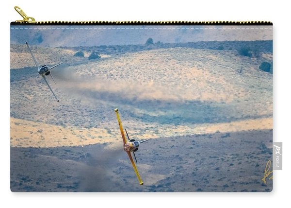 Carry-all Pouch featuring the photograph Emerging From The Valley Of Speed 16 X 9 Aspect Signature Edition by John King