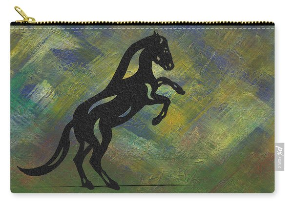 Emma II - Abstract Horse Carry-all Pouch